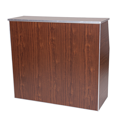 Brown Bar 4' Wood Grain  www.Raphaels.com - Call to place your rental order today! 858-689-7368 - www.raphaels.com