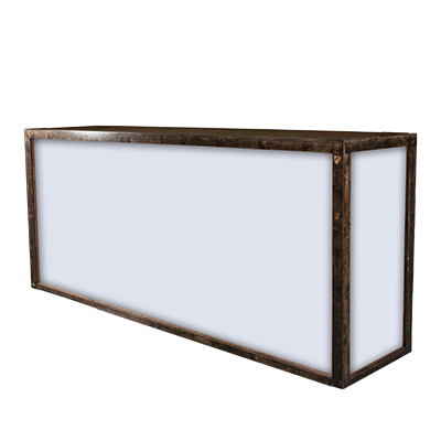 "8' Borrego Bar 8'x2'x48""  www.Raphaels.com - Call to place your rental order today! 858-689-7368 - www.raphaels.com"