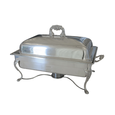 Oblong Chafing Dish 8 Qt Silver  www.Raphaels.com - Call to place your rental order today! 858-689-7368 - www.raphaels.com