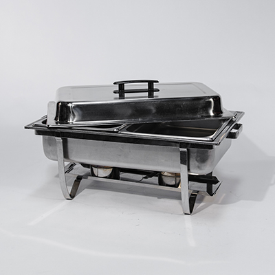 Divided Chafing Dish 8 Qt Stainless Steel  www.Raphaels.com - Call to place your rental order today! 858-689-7368 - www.raphaels.com