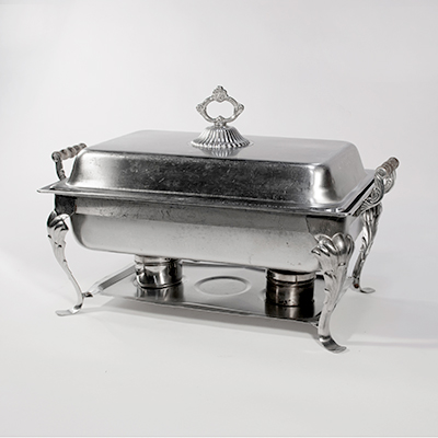 Fancy Chafing Dish 8 Qt Stainless Steel  www.Raphaels.com - Call to place your rental order today! 858-689-7368 - www.raphaels.com