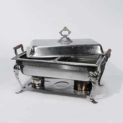 Chafing Dish 8 Qt Stainless Steel Fancy  www.Raphaels.com - Call to place your rental order today! 858-689-7368 - www.raphaels.com