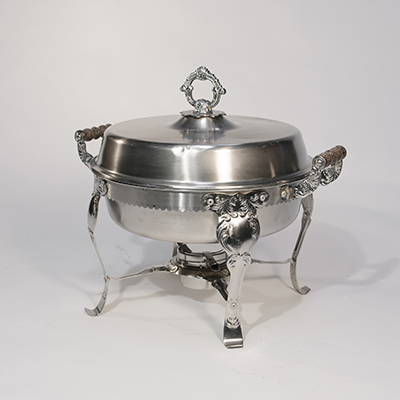Round Chafing Dish 6 Qt Stainless Steel  www.Raphaels.com - Call to place your rental order today! 858-689-7368 - www.raphaels.com