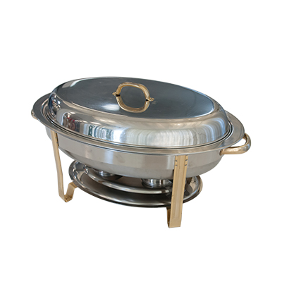 Oval Chafing Dish 8 Qt Stainless Steel  www.Raphaels.com - Call to place your rental order today! 858-689-7368 - www.raphaels.com