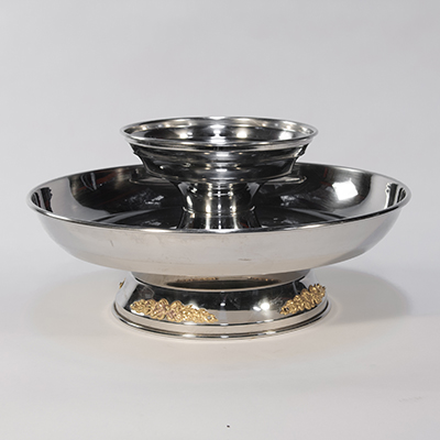 Stainless Lazy Susan (2 Tier Deep)  www.Raphaels.com - Call to place your rental order today! 858-689-7368 - www.raphaels.com