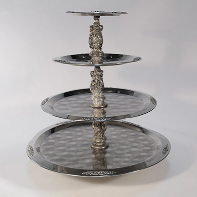 Stainless Lazy Susan, 4 Tier    www.Raphaels.com - Call to place your rental order today! 858-689-7368 - www.raphaels.com