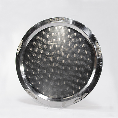 "Stainless Tray, 19"" Round    www.Raphaels.com - Call to place your rental order today! 858-689-7368 - www.raphaels.com"