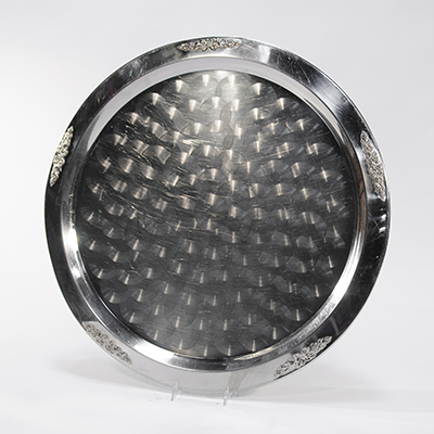 "Stainless Tray, 25"" Round    www.Raphaels.com - Call to place your rental order today! 858-689-7368 - www.raphaels.com"