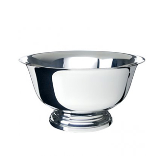 "Silver Revere Bowl, 8""    www.Raphaels.com - Call to place your rental order today! 858-689-7368 - www.raphaels.com"