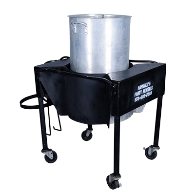Seafood Steamer w/15 gal Stock Pot  www.Raphaels.com - Call to place your rental order today! 858-689-7368 - www.raphaels.com