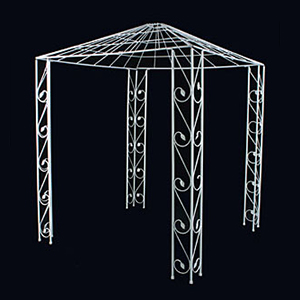 Chuppah Canopy 6' x 6' Metal  www.Raphaels.com - Call to place your rental order today! 858-689-7368 - www.raphaels.com