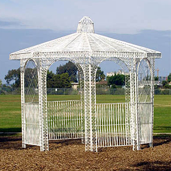 Rattan Gazebo 8' x 8' x 9'  www.Raphaels.com - Call to place your rental order today! 858-689-7368 - www.raphaels.com