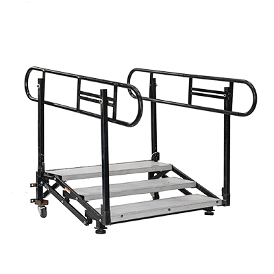 "Adjustable Step w/Rail 12"" to 32""  www.Raphaels.com - Call to place your rental order today! 858-689-7368 - www.raphaels.com"