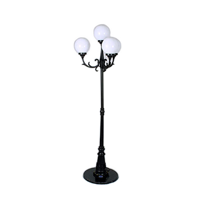 Black Lamp Post, 8' 4 Lights  www.Raphaels.com - Call to place your rental order today! 858-689-7368 - www.raphaels.com