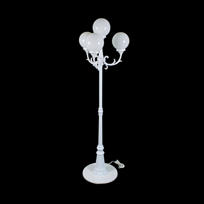 White Lamp Post, 8' 4 Lights  www.Raphaels.com - Call to place your rental order today! 858-689-7368 - www.raphaels.com