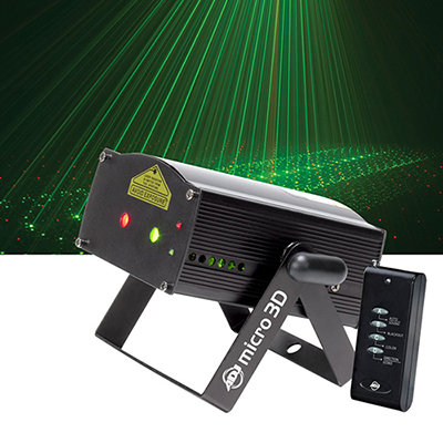 Micro 3D Laser Red and green rotating 3D  www.Raphaels.com - Call to place your rental order today! 858-689-7368 - www.raphaels.com