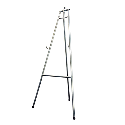 Chrome Easel Adjustable height  www.Raphaels.com - Call to place your rental order today! 858-689-7368 - www.raphaels.com