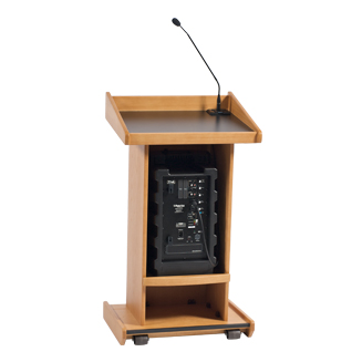 Executive Podium (w/amp/speaker/mic)  www.Raphaels.com - Call to place your rental order today! 858-689-7368 - www.raphaels.com