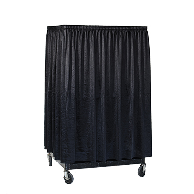 "Audio Visual Cart, 54"" (w/black skirt)  www.Raphaels.com - Call to place your rental order today! 858-689-7368 - www.raphaels.com"