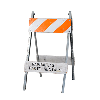 Barricades    www.Raphaels.com - Call to place your rental order today! 858-689-7368 - www.raphaels.com
