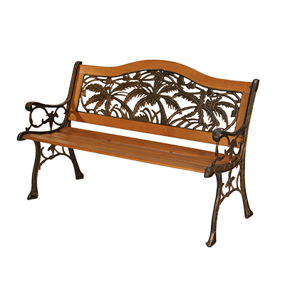 Park Bench 4' Wood w/ arms  www.Raphaels.com - Call to place your rental order today! 858-689-7368 - www.raphaels.com