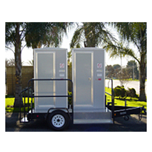 Portable Toilet 2 Unit VIP Style  www.Raphaels.com - Call to place your rental order today! 858-689-7368 - www.raphaels.com