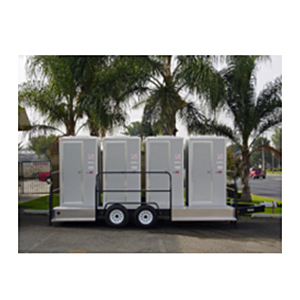 Portable Toilet 4 Unit VIP Style  www.Raphaels.com - Call to place your rental order today! 858-689-7368 - www.raphaels.com