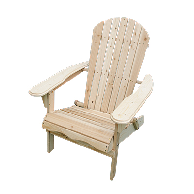 Adirondack Chair Wood - Natural  www.Raphaels.com - Call to place your rental order today! 858-689-7368 - www.raphaels.com