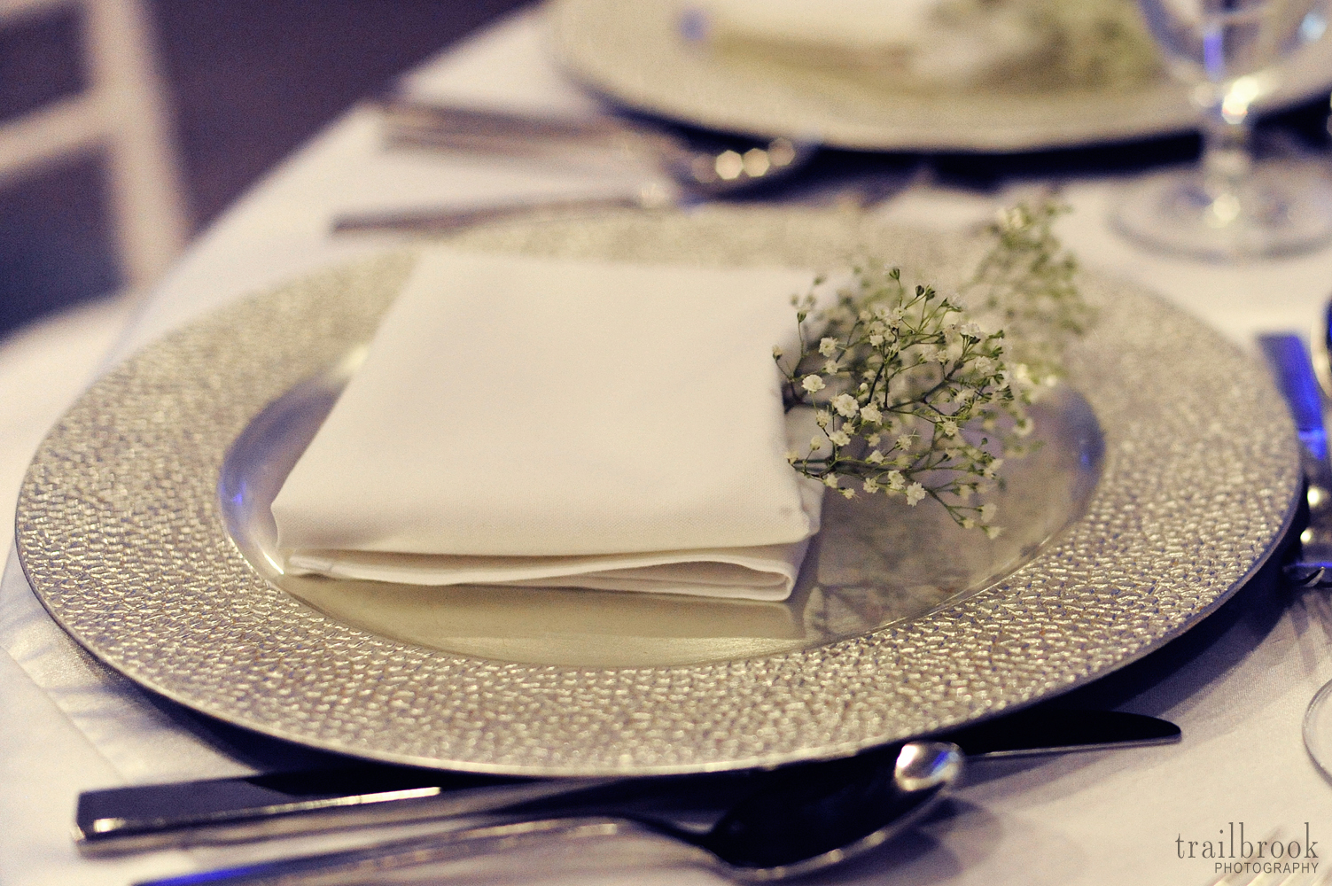silver charger place setting - www.raphaels.com